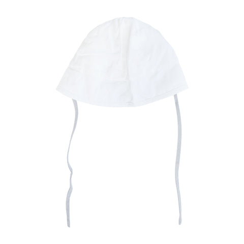 Sun hat | White linen / summer grey tie