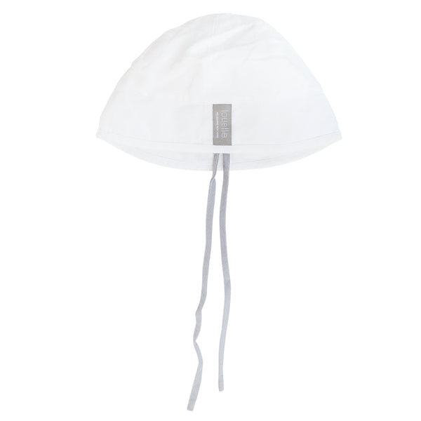 Sun hat | White linen and summer grey tie