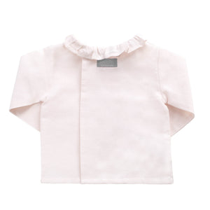 Double button blouse | Blossom pink linen