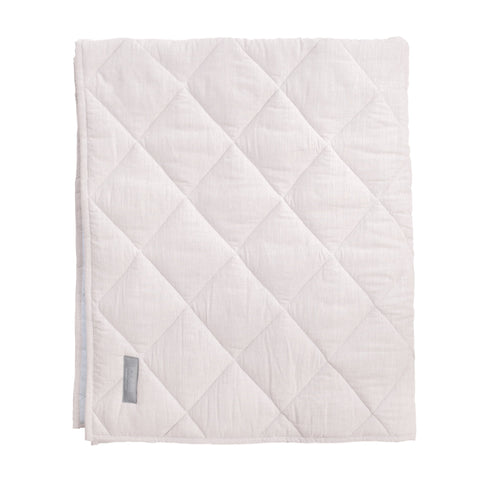 PRE ORDER | Play mat / Quilt | QUILTED LINEN Blossom pink and white reversible