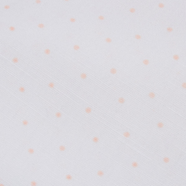 Linen cot / crib fitted sheet | blush pink spot