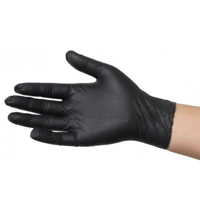 Disposable Nitrile Gloves - Latex Free - BLACK (100 pcs) Medicom Microblading Cosmetic Tattoo SPMU PMU