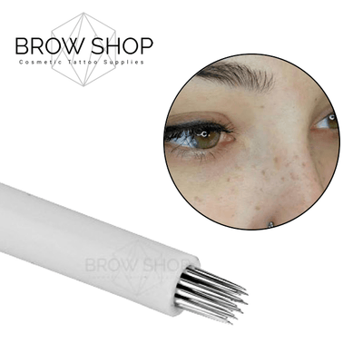 Free Samples Discontinued Round Freckling Needle - 17 pin Microblading Cosmetic Tattoo SPMU PMU