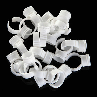 Pigment Cup Rings - Medium (100 pcs) YIJT Microblading Cosmetic Tattoo SPMU PMU