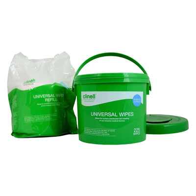 Clinell - Disinfectant Wipes BULK BUCKET (225 Wipes)