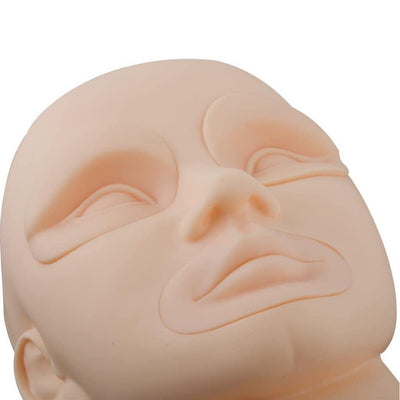 3D Practice Mannequin Head with removable eyes and lips