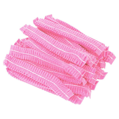 Disposable Hair Caps - Pink (100 pcs)