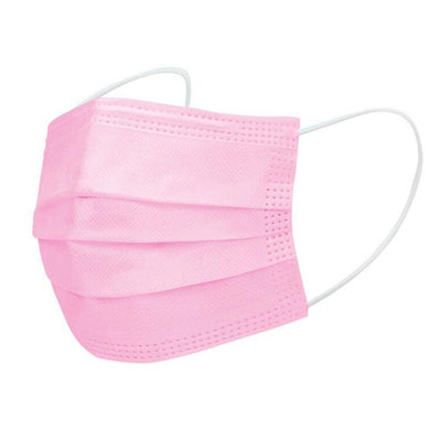 Disposable Face Mask - Pink (50 pcs)