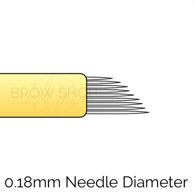 Brow Shop Microblades - 9 pin Curved Flex Nano (25 pcs) LB Microblading Cosmetic Tattoo SPMU PMU
