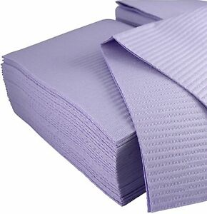 Disposable Dental Bibs - 3 ply - 33x45.5cm - Lavender (125/500 pcs)