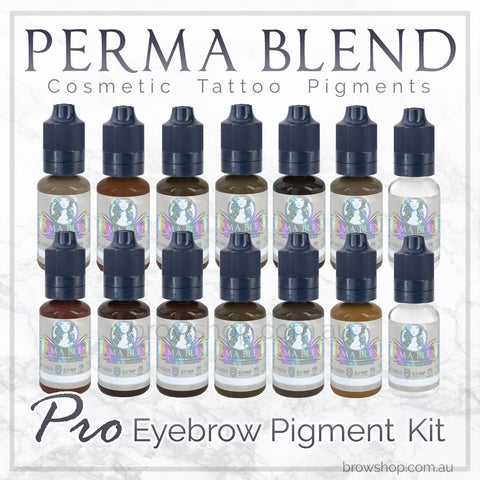 The Perma Blend Pigment Pro Eyebrow Kit is vegan, sterile & made in the US. It's available at Brow Shop among a range of semi permanent tattoo supplies