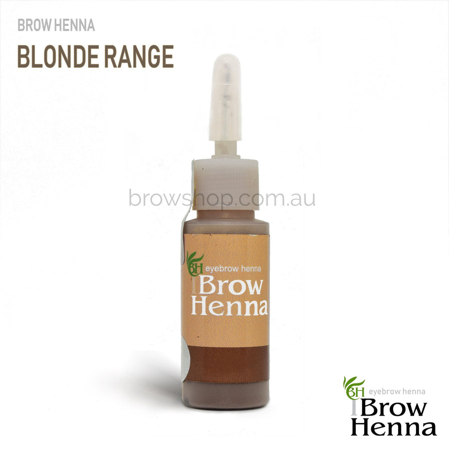 Brow Henna Blond Range Individual Bottles 10ml Brow Shop