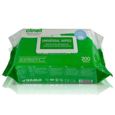 Antimicrobial Sanitising Wipes - Clinell (200 Wipes) ORN Microblading Cosmetic Tattoo SPMU PMU