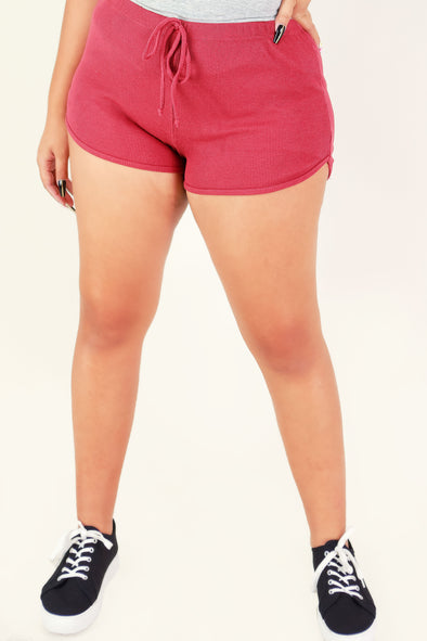 Jeans Warehouse Hawaii - PLUS Knit Shorts - GRAB THEIR ATTENTION SHORTS | By SHINE IMPORTS /BOZZOLO