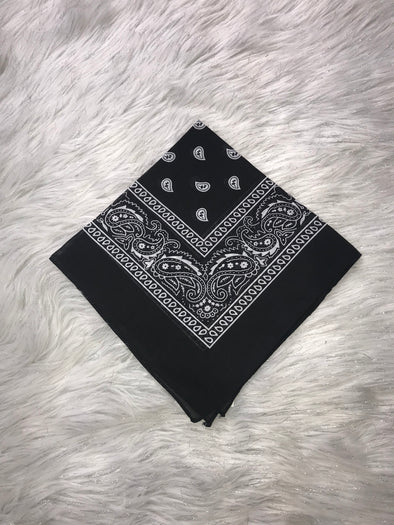 Jeans Warehouse Hawaii - SCARVES - BLACK BANDANA 100% COTTON | By VIKI INTERNATIONAL