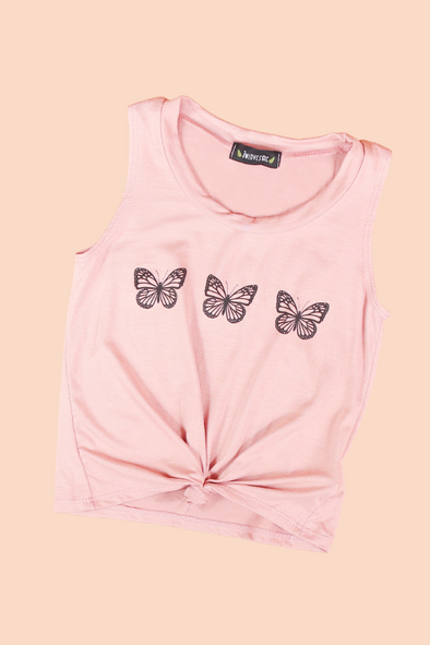 Jeans Warehouse Hawaii - S/L PRINT TOPS 4-6X - FLOAT LIKE A BUTTERFLY TOP | 4-6X | By LUZ