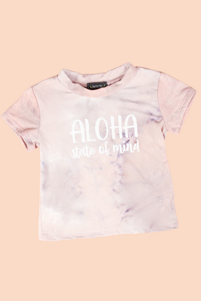 Jeans Warehouse Hawaii - S/S PRINT TOPS 4-6X - ALOHA STATE OF MIND TOP | 4-6X | By LUZ