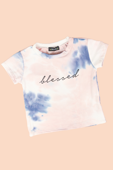 Jeans Warehouse Hawaii - S/S PRINT TOPS 4-6X - BLESSED TEE | 4-6X | By LUZ