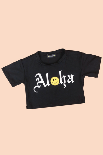 Jeans Warehouse Hawaii - S/S PRINT TOPS 2T-4T - HAPPY ALOHA TOP | 2T-4T | By LUZ