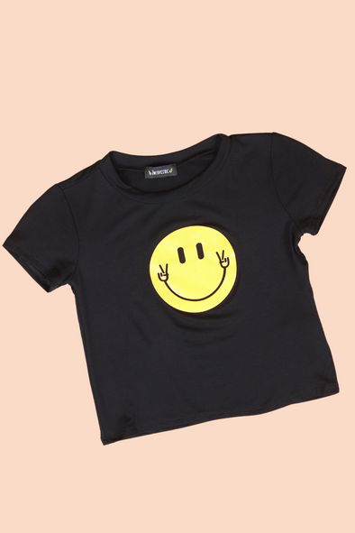 Jeans Warehouse Hawaii - S/S PRINT TOPS 2T-4T - PUT A SMILE ON YOUR FACE TOP | 2T-4T | By LUZ