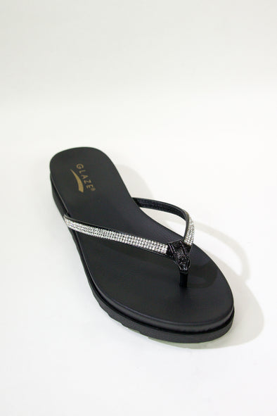 Jeans Warehouse Hawaii - FLATS SLIP ON - SENDING SIGNALS STACKED FLAT | By ELEGANCE ENTERPRISE