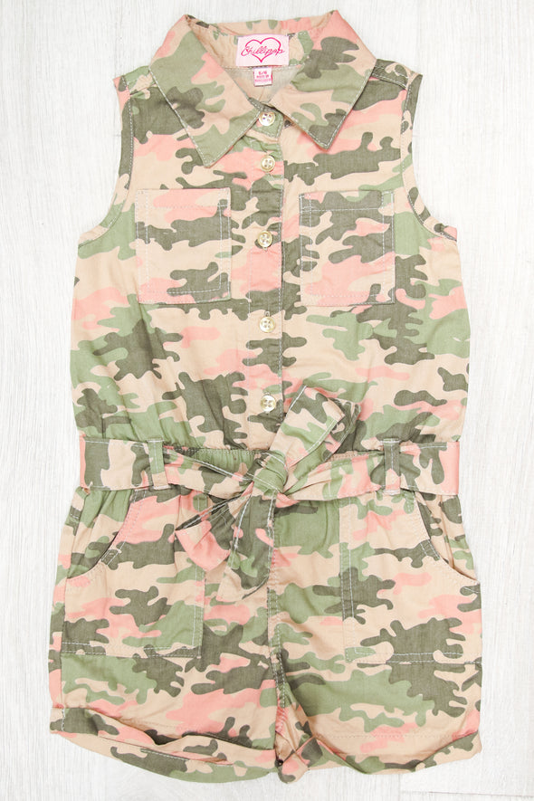 Jeans Warehouse Hawaii - DRESSES 4-6X - CADET KELLY ROMPER | 4-6X | By CHILLI POP USA