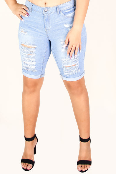 Jeans Warehouse Hawaii - PLUS DENIM BERMUDAS - HAWAII KAI SHORTS | By WAX JEAN