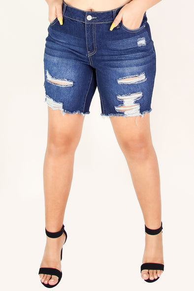 Jeans Warehouse Hawaii - PLUS DENIM BERMUDAS - BETTER THAN EVER BERMUDA SHORTS | By YMI JEANS