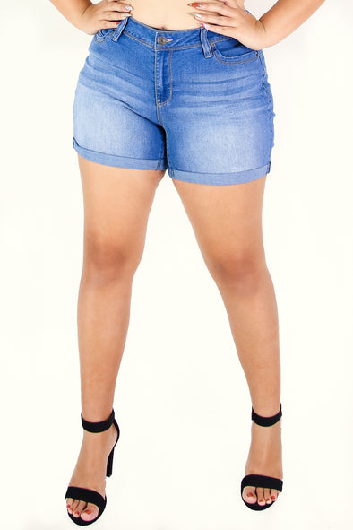 Jeans Warehouse Hawaii - PLUS Denim Shorts - MAKE IT OR BREAK IT SHORTS | By YMI JEANS