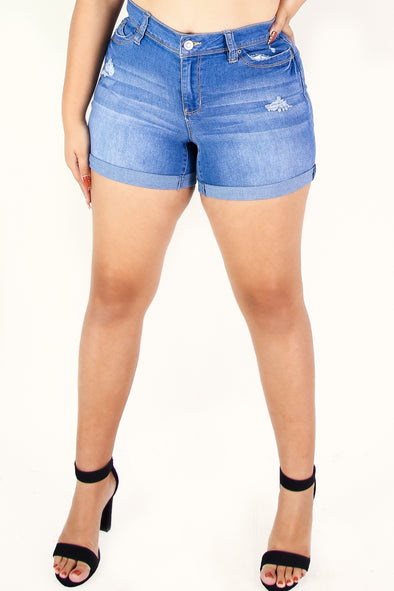 Jeans Warehouse Hawaii - PLUS Denim Shorts - MADE YOU LOOK SHORTS | By YMI JEANS