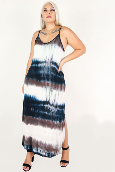 Jeans Warehouse Hawaii - PLUS PLUS KNIT PRINT DRESES - CARE FOR ME MAXI DRESS | By ZENOBIA