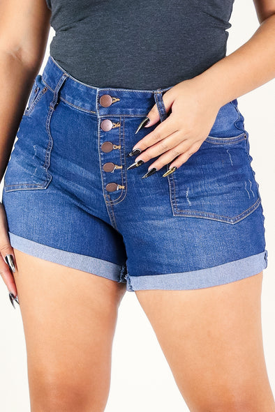 Jeans Warehouse Hawaii - PLUS Denim Shorts - CHARMED SHORTS | By HIGHWAY JEANS