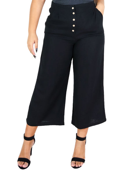 Jeans Warehouse Hawaii - PLUS PLUS WOVEN CASUAL CAPRIS - AMBER PANTS | By AMBIANCE APPAREL