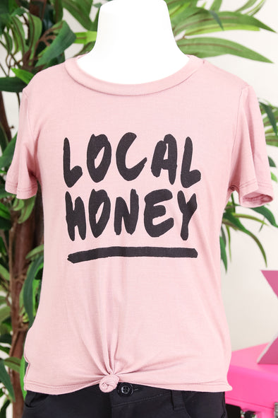 Jeans Warehouse Hawaii - S/S SOLID TOPS 2T-4T - LOCAL HONEY TEE | 2T-4T | By LUZ
