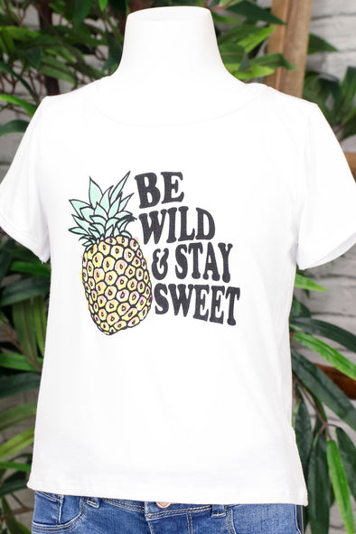 Jeans Warehouse Hawaii - S/S PRINT 7-16 - BE WILD AND STAY SWEET TEE | 7-16 | By LUZ