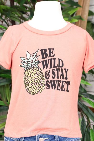 Jeans Warehouse Hawaii - S/S PRINT TOPS 2T-4T - BE WILD AND STAY SWEET TEE | 2T-4T | By LUZ