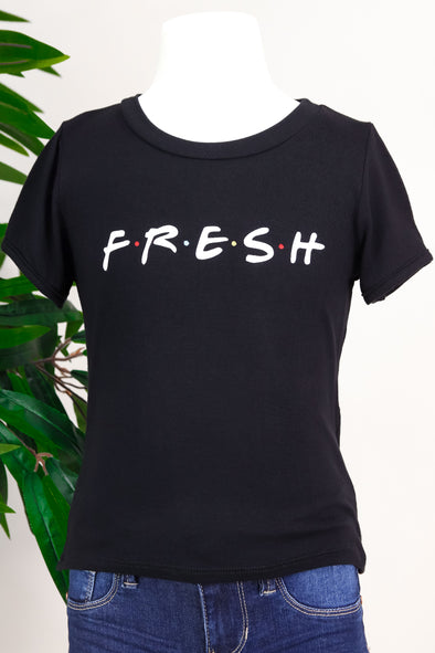 Jeans Warehouse Hawaii - S/S PRINT TOPS 4-6X - FRESH TEE | 4-6X | By LUZ