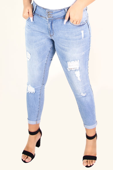 Jeans Warehouse Hawaii - PLUS DENIM CAPRIS - ADDICTED TO YOU JEANS | By WAX JEAN