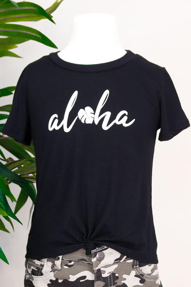 Jeans Warehouse Hawaii - S/S PRINT TOPS 2T-4T - A LITTLE ALOHA TEE | 2T-4T | By LUZ