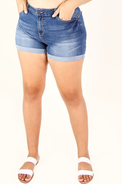 Jeans Warehouse Hawaii - PLUS Denim Shorts - NEVER BETTER BUTT-LIFT SHORTS | By WAX JEAN