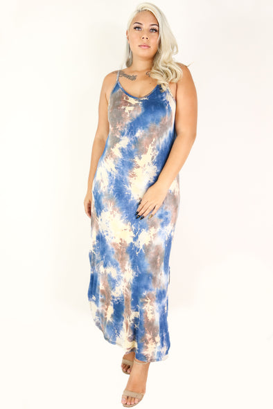 Jeans Warehouse Hawaii - PLUS PLUS KNIT PRINT DRESES - GET WHAT I WANT MAXI DRESS | By ZENOBIA
