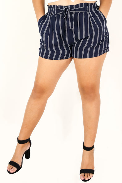Jeans Warehouse Hawaii - PLUS SOLID WOVEN SHORTS - WRONG WAY SHORTS | By AMBIANCE APPAREL