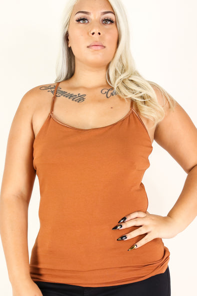 Jeans Warehouse Hawaii - PLUS BASIC SPAGHETTI TANKS - BACK TO BASICS TOP | By AMBIANCE APPAREL