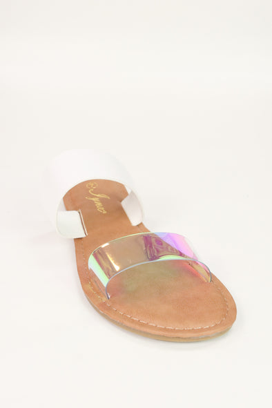 Jeans Warehouse Hawaii - FLATS SLIP ON - GLEAMING SANDALS | By REDSHOELOVER LLC
