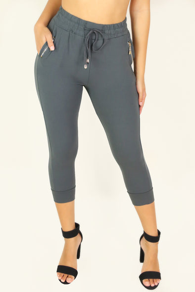 Jeans Warehouse Hawaii - SOLID KNIT CAPRI'S - PRETTY PLAYFUL PANTS | By LA 12ST