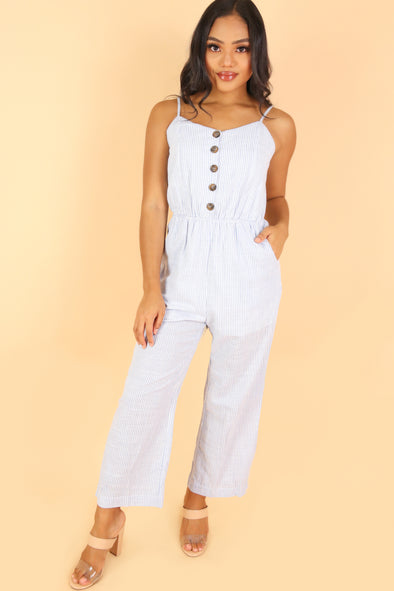 Jeans Warehouse Hawaii - PRINT CASUAL JUMPSUITS - SLIDE INTO MY LIFE JUMPSUIT | By HYMAN FAMILY INC