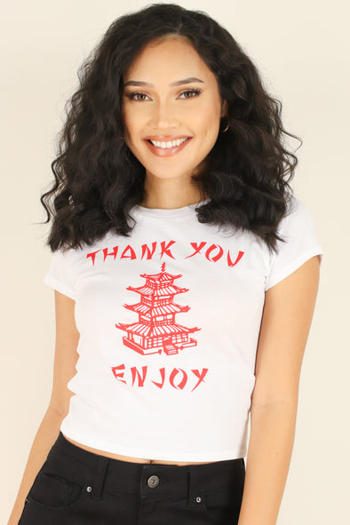 Jeans Warehouse Hawaii - S/S SCREEN - THANK YOU ENJOY TEE | By ROCK & ROSE COUTURE