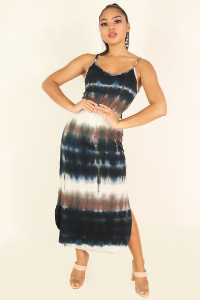 Jeans Warehouse Hawaii - S/L LONG PRINT DRESSES - CARE FOR ME DRESS | By PAPERMOON/ B_ENVIED