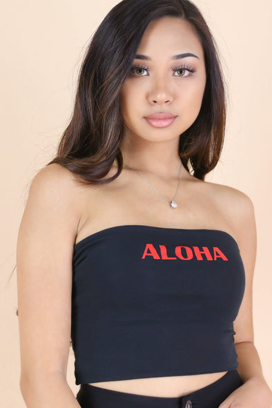 Jeans Warehouse Hawaii - TANK/TUBE SCREENS - ALOHA CUTIE TOP | By ROCK & ROSE COUTURE