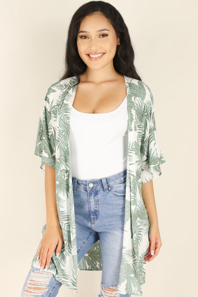 Jeans Warehouse Hawaii - S/S PRINT WOVEN DRESSY TOPS - FULL OF SECRETS CARDIGAN | By LIME N CHILI
